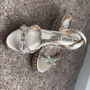Badgley Mischka jeweled espadrille sandals
